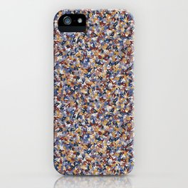 Brown and Blue Abstract Nature Terrazzo Texture iPhone Case