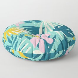 Not All Those Who Wander Are Lost #painting #tropical Floor Pillow