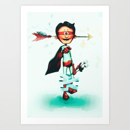 Super Hero In Love Art Print