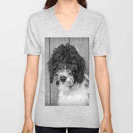 Thoughtful Labradoodle Unisex V-Neck