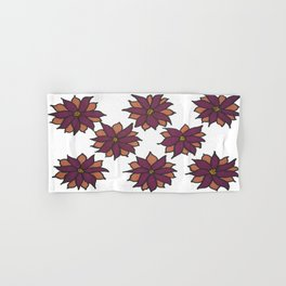Holiday Two-Toned Flowers Hand & Bath Towel