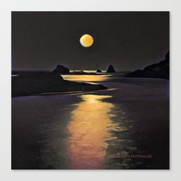 Blood Moon Reflection Canvas Print
