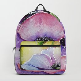 Field poppies, watercolor Backpack