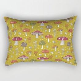 Funghi - Gold Rectangular Pillow