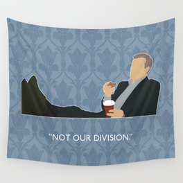 The Reichenbach Fall - Greg Lestrade Wall Tapestry
