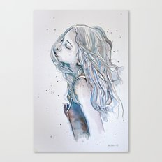 Breeze (variant II), watercolor painting Canvas Print