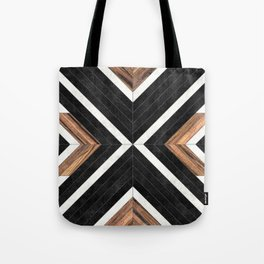Urban Tribal Pattern No.1 - Concrete and Wood Tote Bag