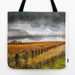 Stormy Day at Wistow Tote Bag