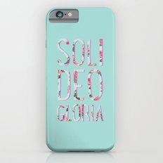 Soli Deo Gloria Floral Slim Case iPhone 6
