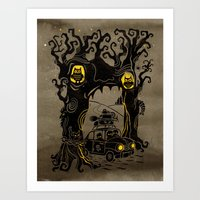 Trip to Enchanted Forest Art Print
