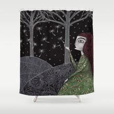 My Winter Stars Shower Curtain