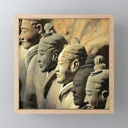 Chinese Terracotta Warriors Framed Mini Art Print