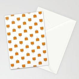 Orange Birkin Vibes High Fashion Purse Illustration Stationery Cards