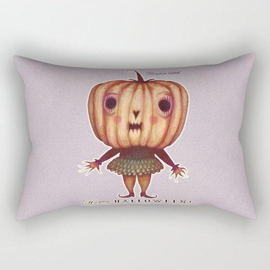 Pumpkin witch Rectangular Pillow