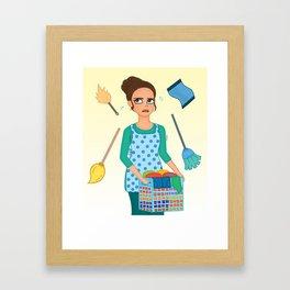 House Chores Framed Art Print