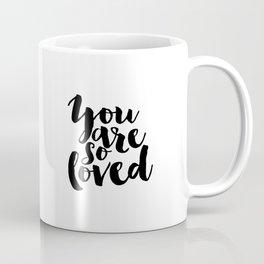 Nursery Decor You Are So Loved Nursery Printable Typographic Wall Art Typography Phrase Mini Learner Coffee Mug