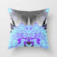 geode Throw Pillows featuring Geode 1 by michiko_design
