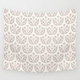 Mid Century Modern Flower Pattern 731 Beige Wall Tapestry