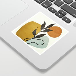 Soft Abstract Small Leaf Sticker