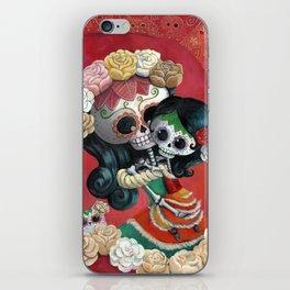 Dia de Los Muertos - Skeleton Mum and Daughter Moment iPhone Skin