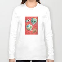 sugar skulls Long Sleeve T-shirts featuring Mexican Sugar Skulls by Madame Colonelle