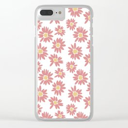Pastel Flowers Clear iPhone Case
