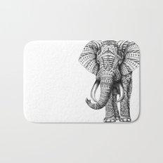 Ornate Elephant Bath Mat