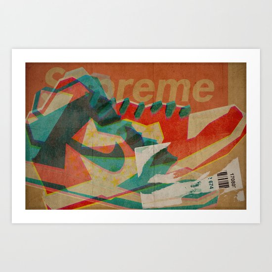 Nike Dunk Hi Pro SB Supreme   Highsnobiety Art Print