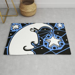 Moon and Stars Trellis Rug