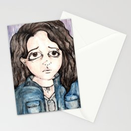 The Inaccurate Self-Portrait of a Madman Stationery Cards