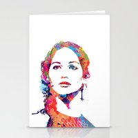 katniss Stationery Cards featuring Katniss by lauramaahs