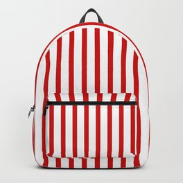 Red & White Vertical Stripes Backpack