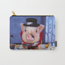 Funny pig and  the money Carry-All Pouch