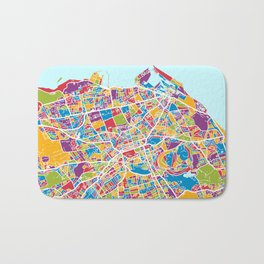 Edinburgh Street Map Bath Mat
