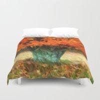 van gogh Duvet Covers featuring Van Gogh Autumn by ThePhotoGuyDarren