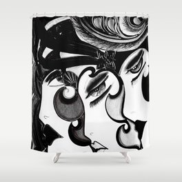 ART DECO MOD DOLLY FLAPPERS  TRIO Shower Curtain