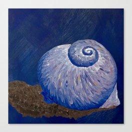 Purple Moon Snail Shell Canvas Print