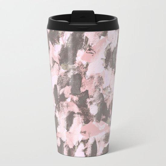 Abstract Sixteen Metal Travel Mug