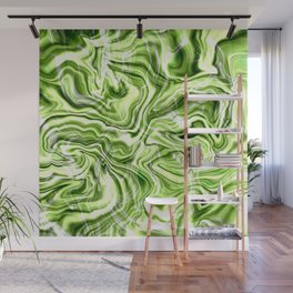 Green marble texture Wall Mural