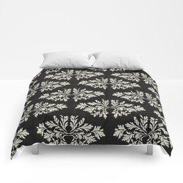 Foliage Black Comforters