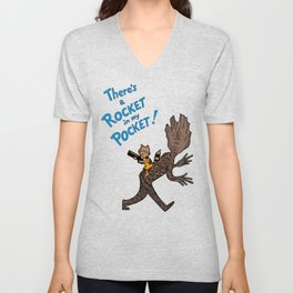 There's a Rocket In My Pocket! Unisex V-Neck