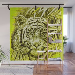 tiger - king of the jungle Wall Mural