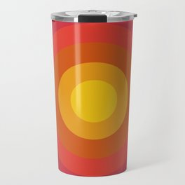 Right On - retro throwback 70s 1970s bullseye beach 70's vibes minimal art by Seventy Eight Travel Mug