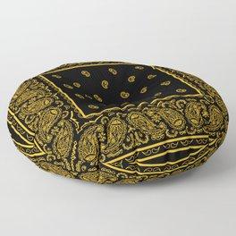 Classic Black and Gold Bandana Floor Pillow