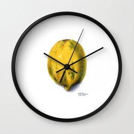 Yellow Papaya Wall Clock