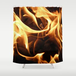 Licking Flames Shower Curtain