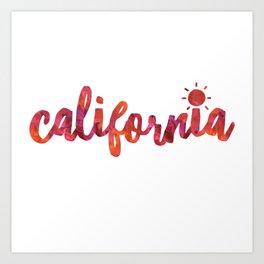 California Sun Watercolor Art Print