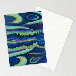 Yellowknife Aurora Stationery Cards