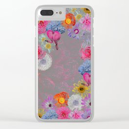 Flowers mixed Clear iPhone Case