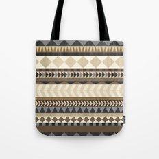 Dusty Aztec Pattern Tote Bag